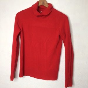 Nicole Miller Cashmere Turtleneck Red XS Sweater